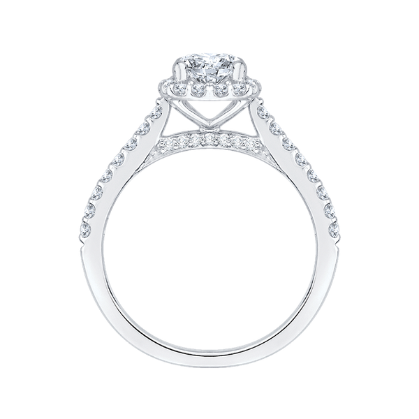 Complete Round Cut 1.20 ctw White Gold Diamond Halo Engagement Ring Image 3 Polly's Fine Jewelry N. Charleston, SC