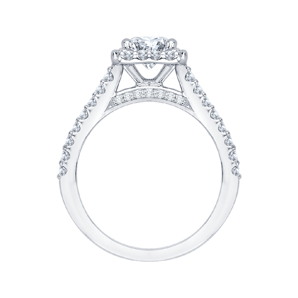 Complete Square Cut 1.25 ctw White Gold Diamond Halo Engagement Ring Image 3 Polly's Fine Jewelry N. Charleston, SC
