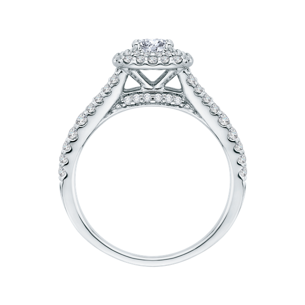 Complete Square Cut 1.07 ctw White Gold Diamond Halo Engagement Ring Image 3 Polly's Fine Jewelry N. Charleston, SC
