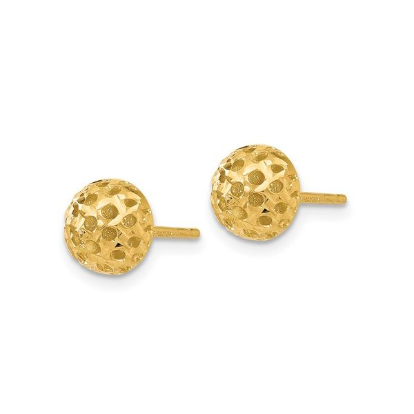 14K Polished Button Post Earrings Polly's Fine Jewelry N. Charleston, SC