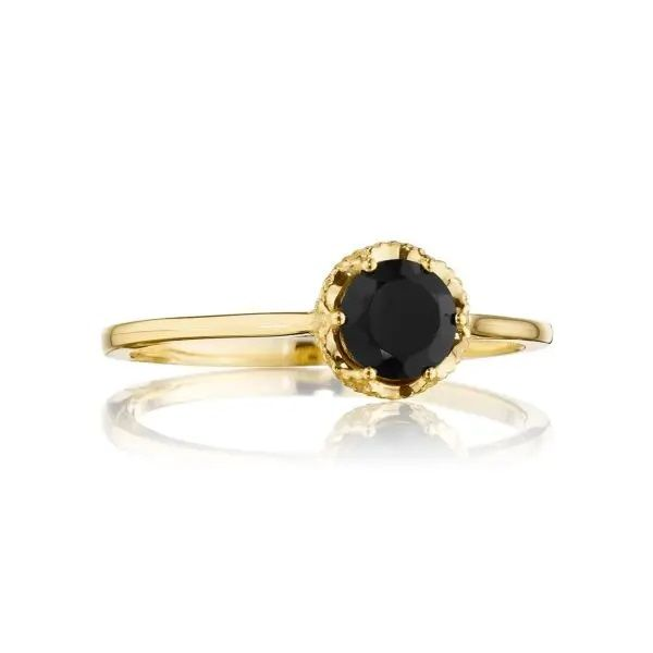 Petite Crescent Crown Gem Ring featuring Black Onyx Polly's Fine Jewelry N. Charleston, SC
