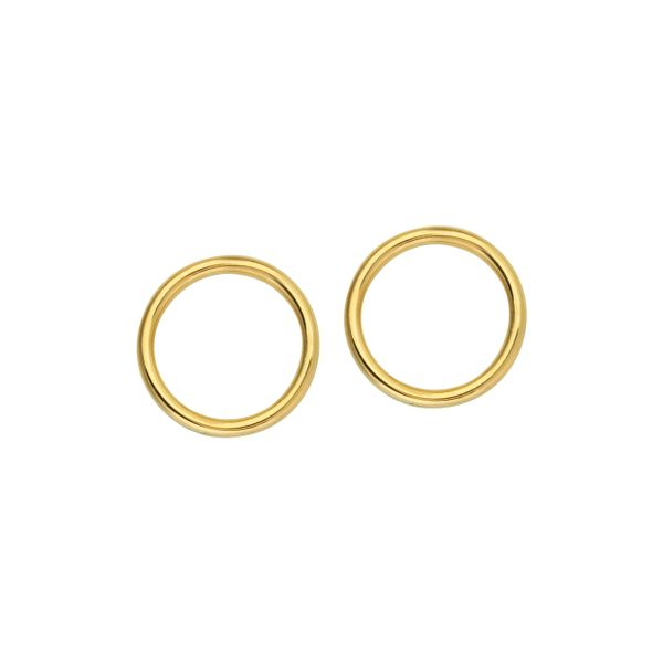 Yellow Gold Open Circle Earrings Polly's Fine Jewelry N. Charleston, SC