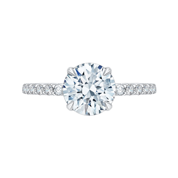 Complete Round Cut 1.28 ctw White Gold Diamond Engagement Ring Polly's Fine Jewelry N. Charleston, SC