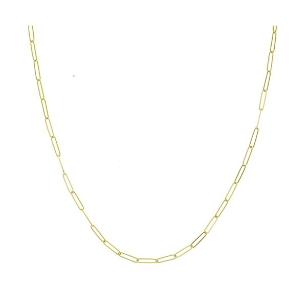 Yellow Gold Paper Clip Chain Polly's Fine Jewelry N. Charleston, SC