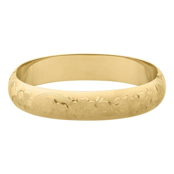 12mm Floral Bangle (Matte) Polly's Fine Jewelry N. Charleston, SC