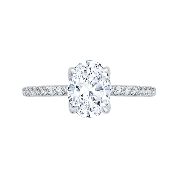 Complete Oval Cut 1.28 ctw White Gold Diamond Engagement Ring Polly's Fine Jewelry N. Charleston, SC