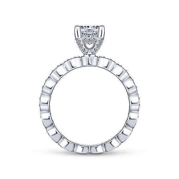 14kt White Gold Vintage Inspired Engagement Ring Image 3 Polly's Fine Jewelry N. Charleston, SC