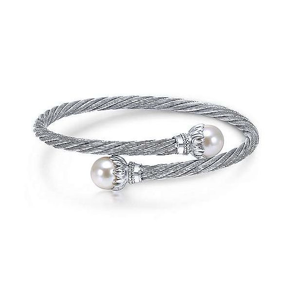 Sterling Silver Pearl Bangle Polly's Fine Jewelry N. Charleston, SC