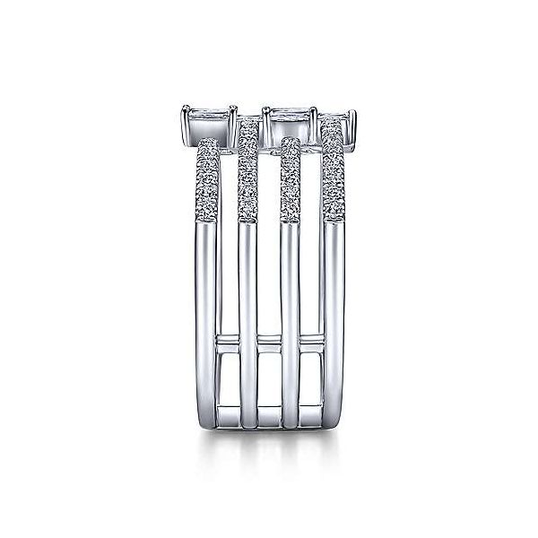 14K White Gold Open Diamond Cage Ring Image 3 Polly's Fine Jewelry N. Charleston, SC