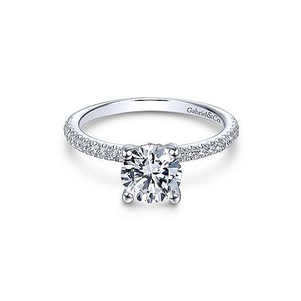 14kt White Gold Classic Engagement Ring Polly's Fine Jewelry N. Charleston, SC