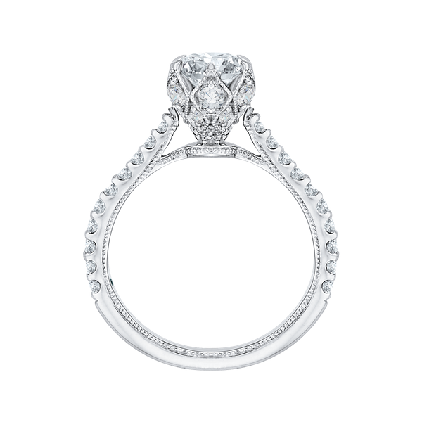 Complete Round Cut 1.37 ctw White Gold Diamond Engagement Ring Image 3 Polly's Fine Jewelry N. Charleston, SC