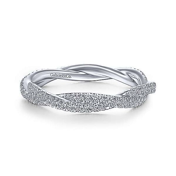 White Gold Diamond Stack Band Polly's Fine Jewelry N. Charleston, SC