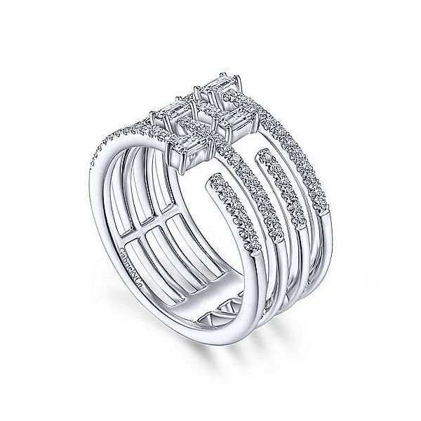 14K White Gold Open Diamond Cage Ring Image 2 Polly's Fine Jewelry N. Charleston, SC