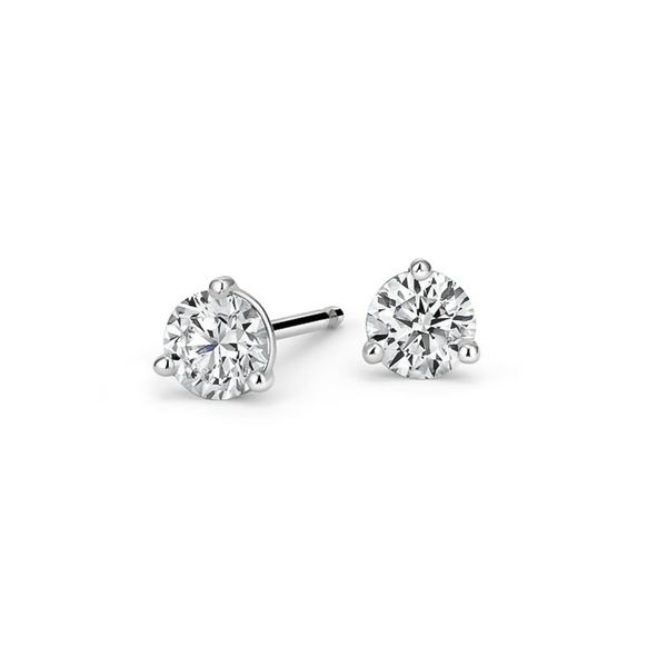 Large Selection of 14K White Gold Diamond Stud Earrings Image 2 Quality Gem, LLC Bethel, CT