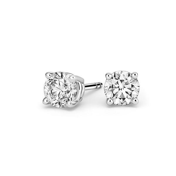 Large Selection of 14K White Gold Diamond Stud Earrings Image 3 Quality Gem, LLC Bethel, CT