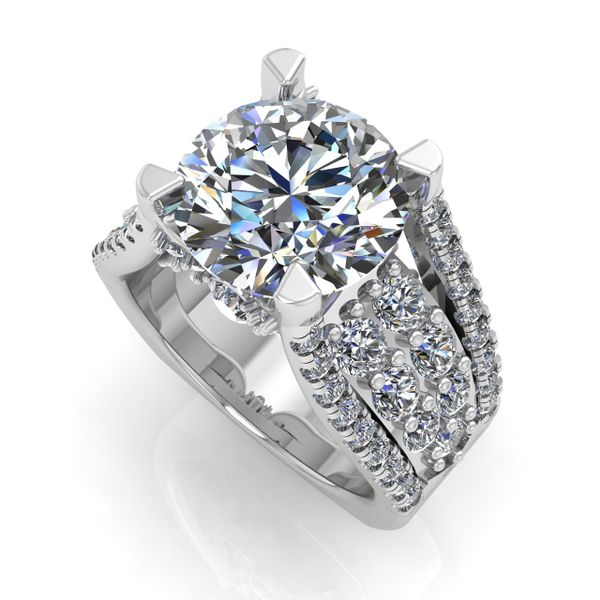 Custom ladies engagement ring Rialto Jewelry San Antonio, TX