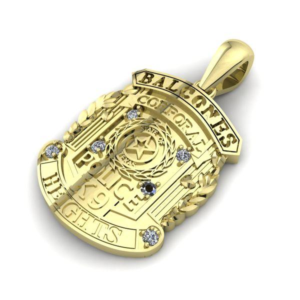 Custom Police Badge Rialto Jewelry San Antonio, TX