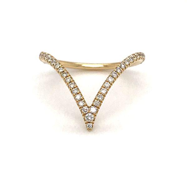 14 Karat Yellow Gold .25 Carat Diamond V Ring Rialto Jewelry San Antonio, TX