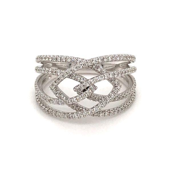 14 Karat White Gold .62 Carat Four Band Diamond Ring Rialto Jewelry San Antonio, TX