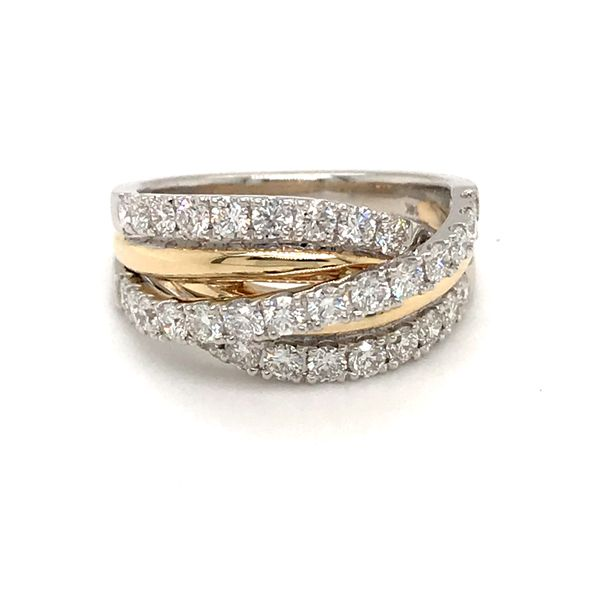 14 Karat  White Gold/Yellow Gold 1.29 Carat Diamond Band Rialto Jewelry San Antonio, TX