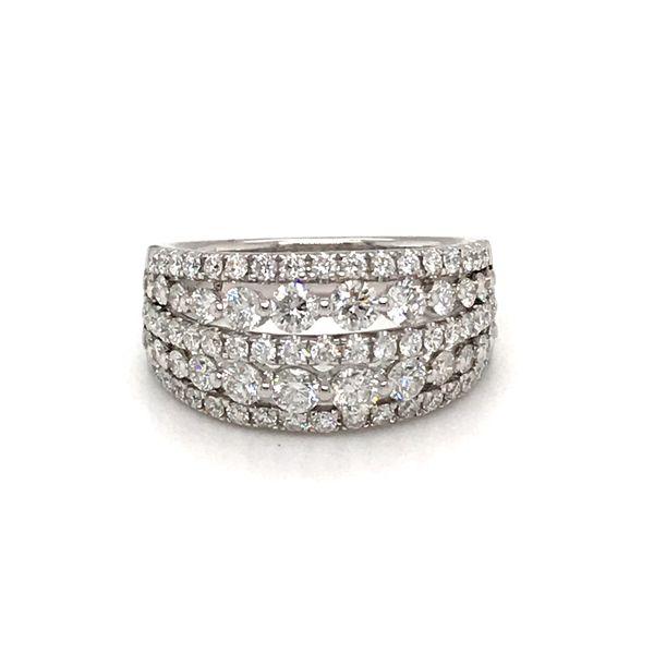 14 Karat White Gold 1.87 Carat 5 Row Diamond Band Rialto Jewelry San Antonio, TX