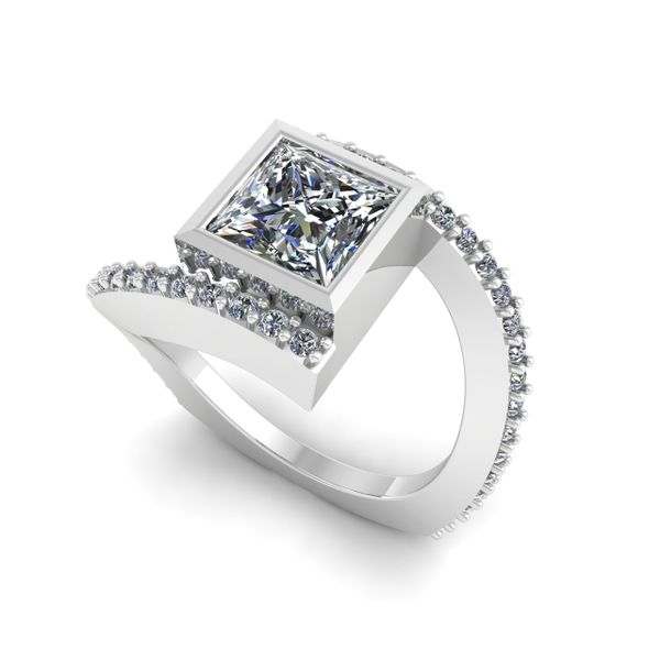 Custom Ladies Bypass Engagement Ring Rialto Jewelry San Antonio, TX