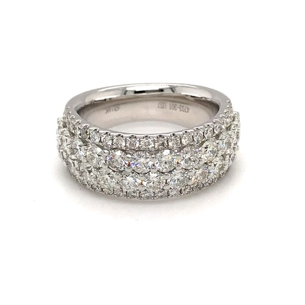 14 Karat White Gold 2.65 Carat Diamond Band Rialto Jewelry San Antonio, TX