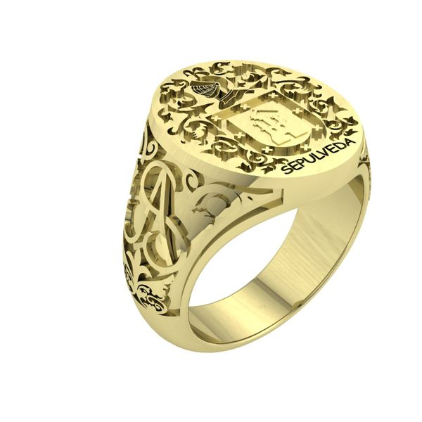 Men's Family Crest Ring Rialto Jewelry San Antonio, TX