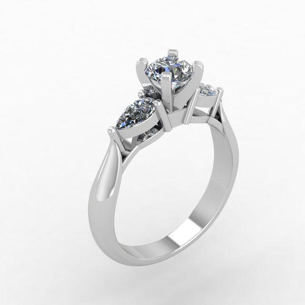 Custom 3 Stone Diamond Engagement Ring Rialto Jewelry San Antonio, TX