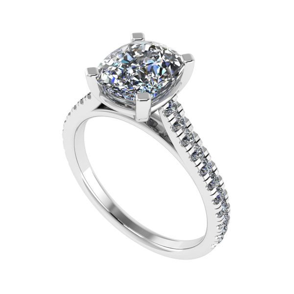 Ladies Diamond Cathedral Diamond Engagement Ring Rialto Jewelry San Antonio, TX