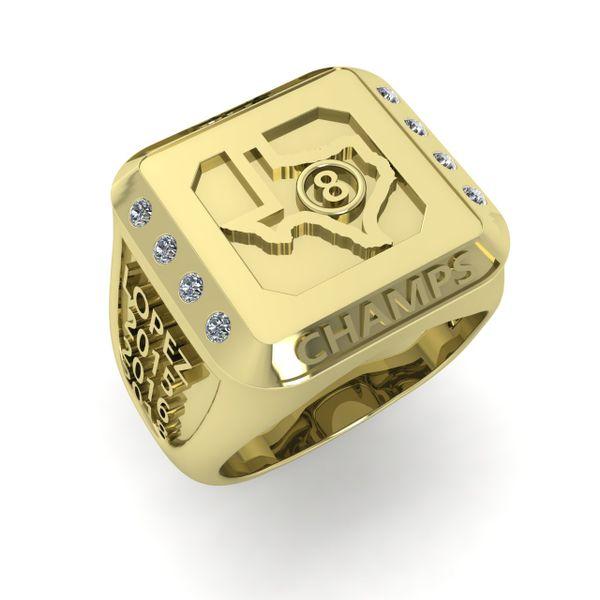 Men's Billiard Champion Ring Rialto Jewelry San Antonio, TX