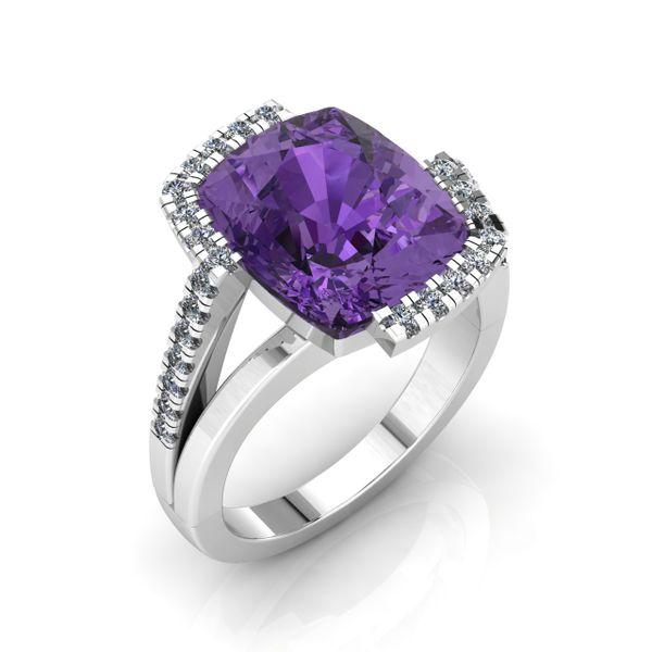 Ladies Custom Fancy Amethyst Ring Rialto Jewelry San Antonio, TX
