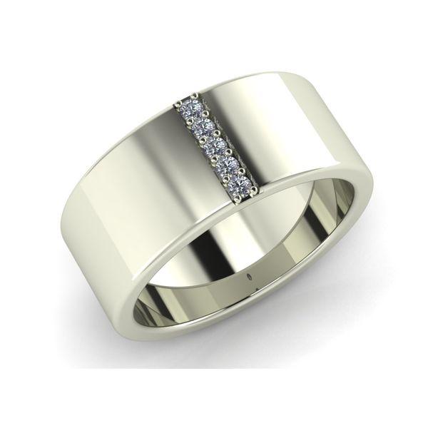 Men's White Gold Diamond Wedding Band Rialto Jewelry San Antonio, TX