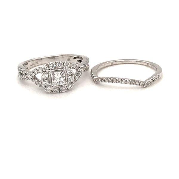 14 Karat White Gold Diamond Bridal Set Rialto Jewelry San Antonio, TX