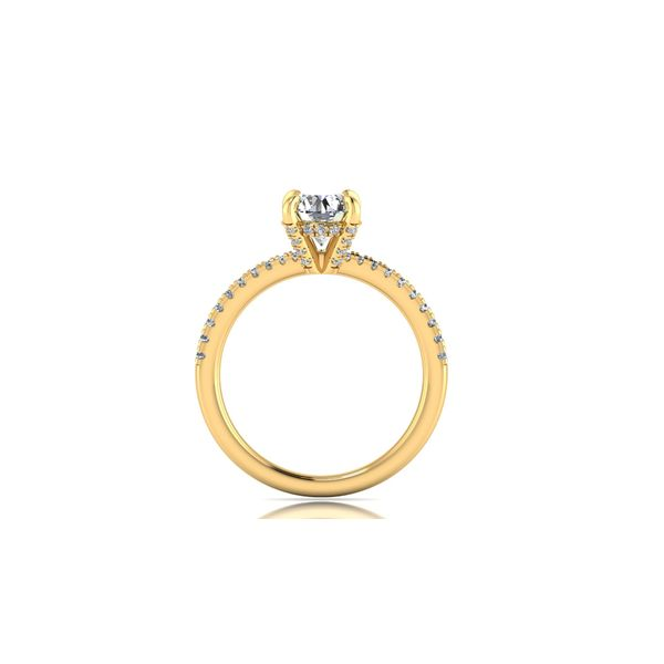 Shared prong diamond engagement ring - yellow - Try on at home FREE Image 3 Robert Irwin Jewelers Memphis, TN