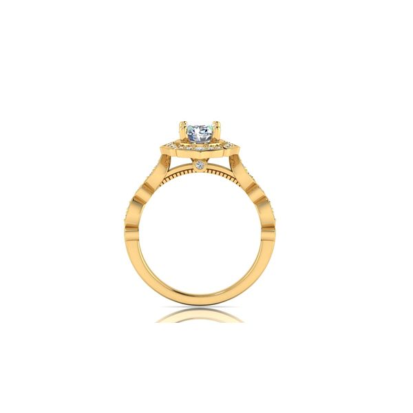 Angelina floral halo engagement ring - yellow - Try on at home FREE Image 3 Robert Irwin Jewelers Memphis, TN