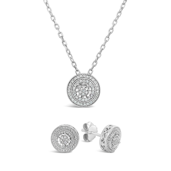 Sterling Silver 1/10ctw Diamond Circle Pendant Robert Irwin Jewelers Memphis, TN