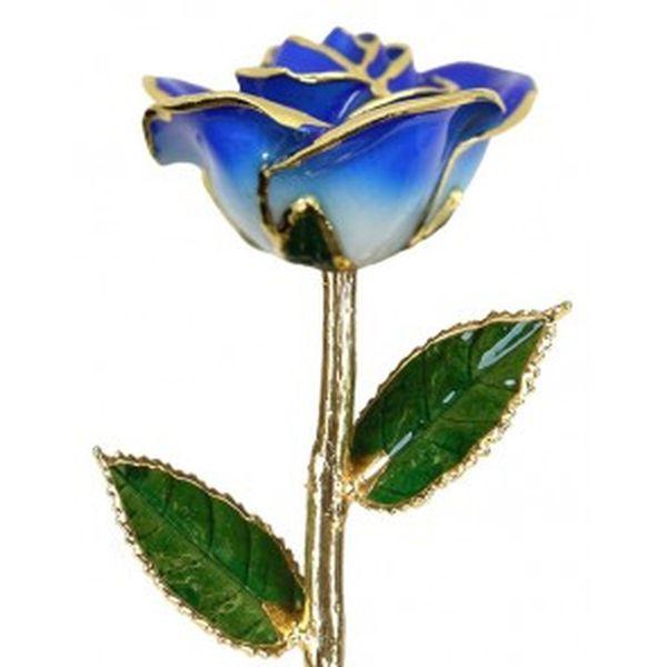 Two Tone Blue 24k Gold Dipped Rose Robert Irwin Jewelers Memphis, TN