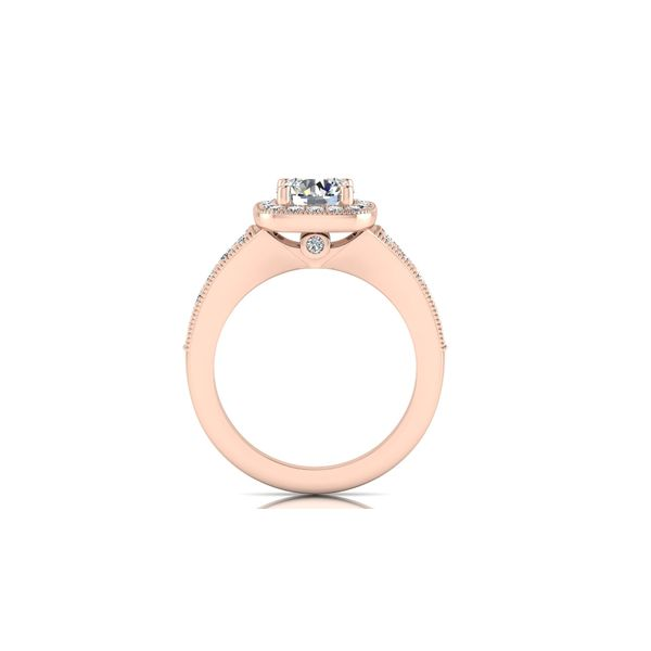 Ariana channel halo engagement ring - pink - Try on at home FREE Image 3 Robert Irwin Jewelers Memphis, TN