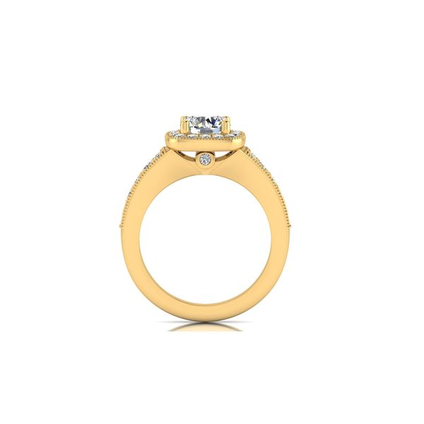 Ariana channel halo engagement ring - yellow - Try on at home FREE Image 3 Robert Irwin Jewelers Memphis, TN