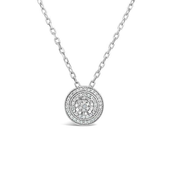 Sterling Silver 1/10ctw Diamond Circle Pendant Image 2 Robert Irwin Jewelers Memphis, TN