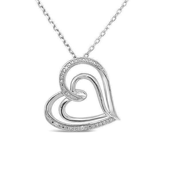 Sterling Silver 1/10ctw Diamond Heart Bracelet Image 3 Robert Irwin Jewelers Memphis, TN
