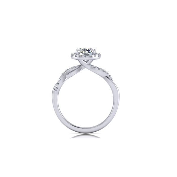 Halo infinity twist engagement ring - Try on at home FREE Image 3 Robert Irwin Jewelers Memphis, TN