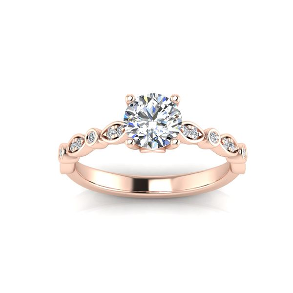 Reese geometric engagement ring - pink - Try on at home FREE Robert Irwin Jewelers Memphis, TN