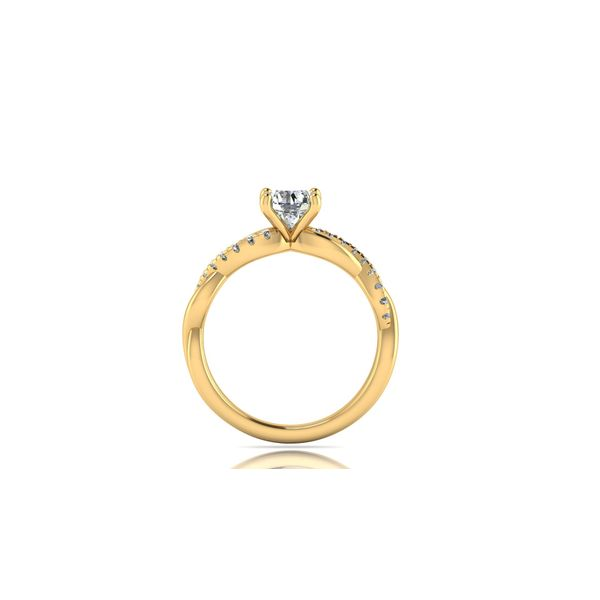 Infinity twist engagement ring - yellow - Try on at home FREE Image 3 Robert Irwin Jewelers Memphis, TN