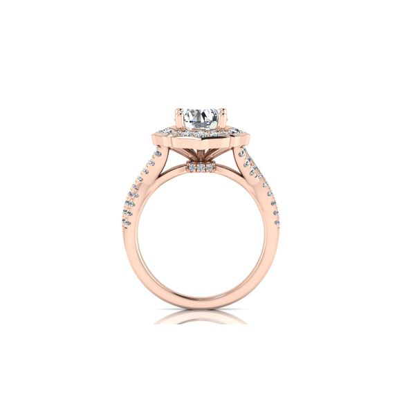 Sofia infinity twist floral halo engagement ring - pink - Try on at Home FREE Image 3 Robert Irwin Jewelers Memphis, TN