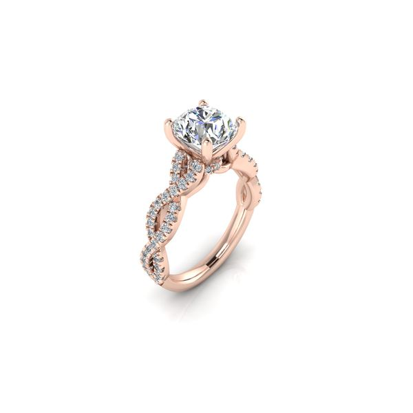Lizzo infinity twist engagement ring - pink - Try on at home FREE Image 2 Robert Irwin Jewelers Memphis, TN