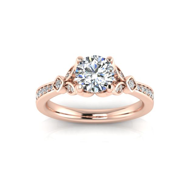 Jenna floral style engagement ring - pink - Try on at home FREE Robert Irwin Jewelers Memphis, TN