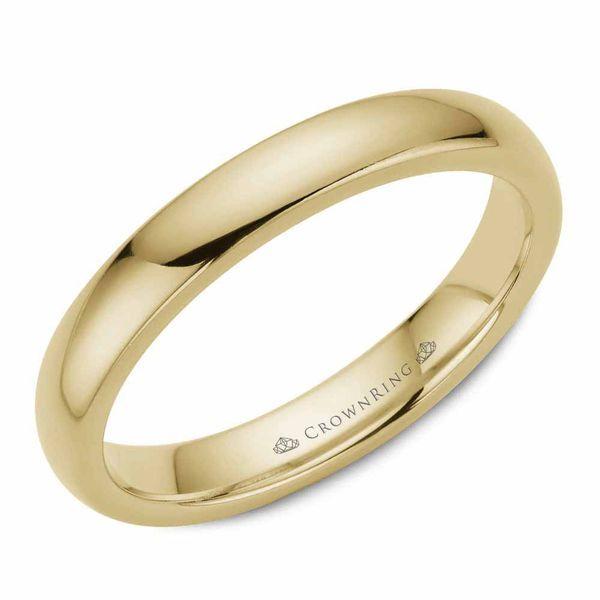 CrownRing 14k Yellow Gold 3mm Classic Wedding Band Robert Irwin Jewelers Memphis, TN