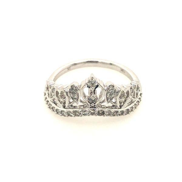 10k White Gold 0.33ctw Diamond Princess Crown Fashion Ring Robert Irwin Jewelers Memphis, TN